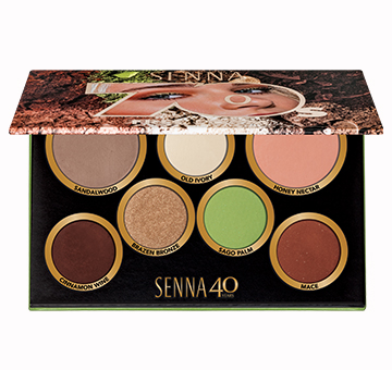 SENNA Makeup Palette Decades 70's Free Form Палетка теней