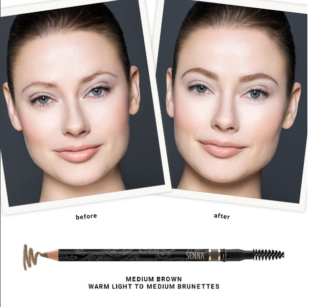 SENNA Powder Brow Styling Pencil Medium Brown(17702)